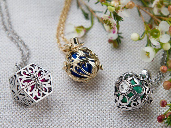 Yourself Expression - Angel Lockets  A guardian angel you can wear every day. These lockets house a delicate chime—a gentle reminder that a loved one is with you in spirit.