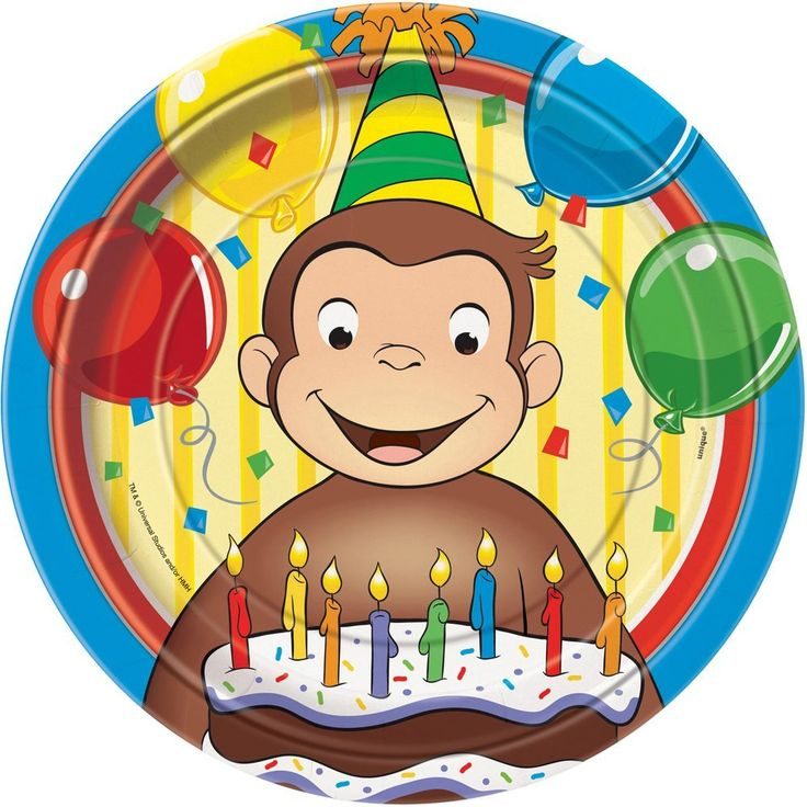 Curious George Dinner Plates, 8ct, Party Games & Crafts - Amazon Canada