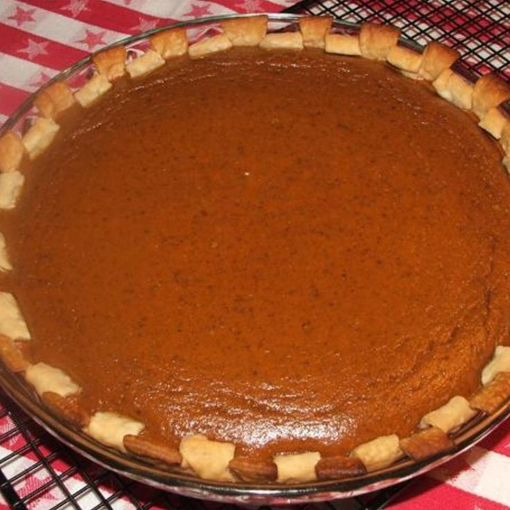 Better than Libby's Pumpkin Pie! Sshhh! hehe Recipe | Just A Pinch Recipes. Yummmmm