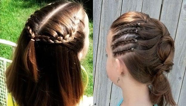 Красивые причёски для маленьких девочек на короткие волосы