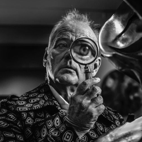 Bill Murray inspecting The futuristic Man by Umberto Boccioni at the MoMA - Photographed by Marco Grob (@marcogrob) for GQ Germany. | #hasselblad #mediumformat #marcogrob #moma #portraitphotography via Hasselblad on Instagram - #photographer #photography #photo #instapic #instagram #photofreak #photolover #nikon #canon #leica #hasselblad #polaroid #shutterbug #camera #dslr #visualarts #inspiration #artistic #creative #creativity