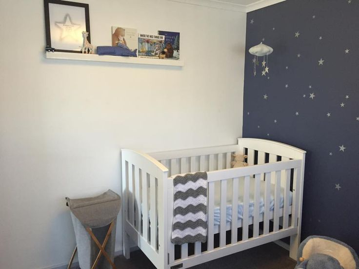 Wonderful Starry Nursery For A Much Awaited Baby Boy. Baby Boy Room DecorBaby ...
