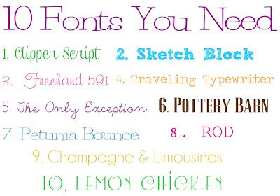 10 Free Fonts You Need