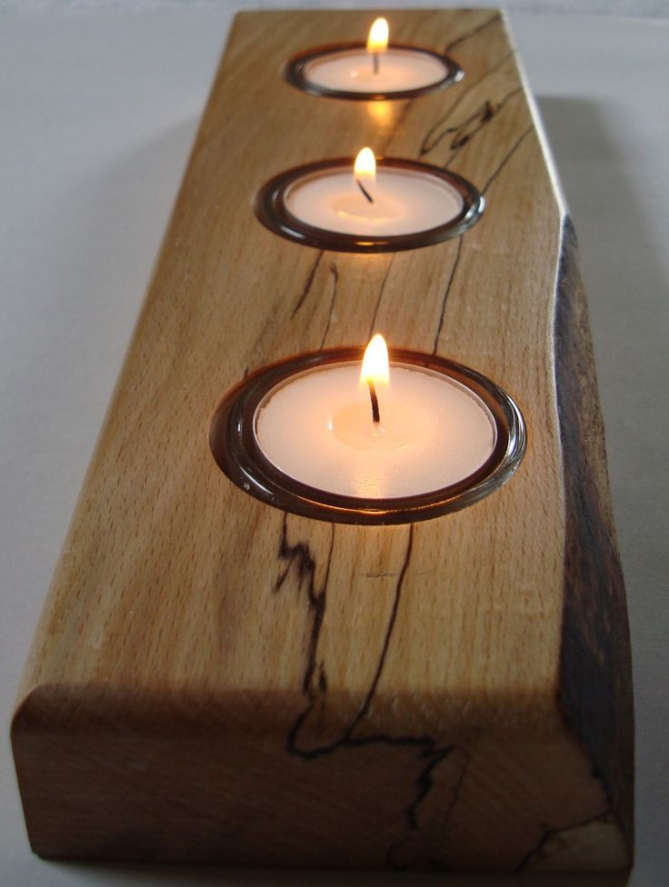 23 Best Images About Wooden Candle Holders On Pinterest