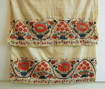 Antique Turkish Towel Ottoman TRIBAL Embroidery Ethnic 18th Century TEXTILE Old