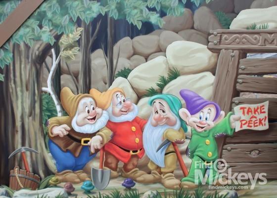 7 dwarfs mine train ride hidden mickeys