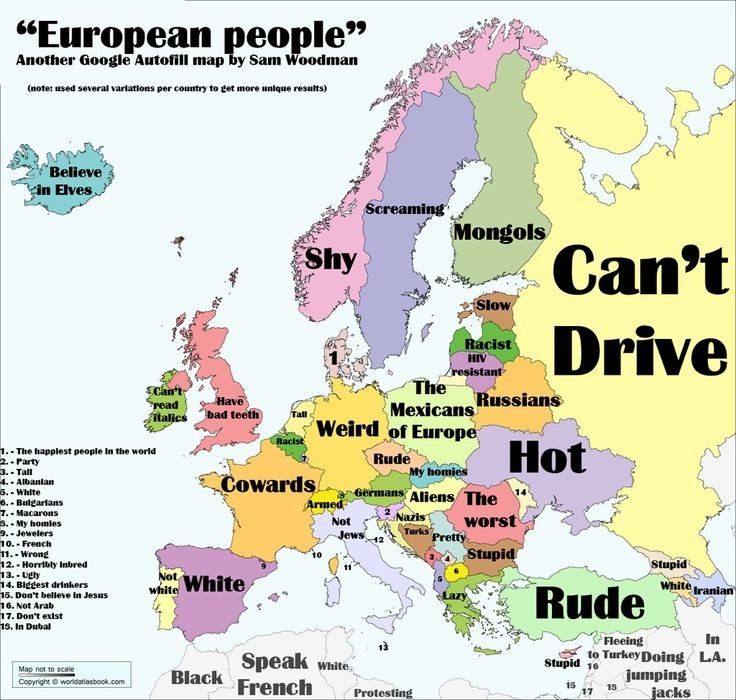 European People According To Google Autocomplete  Maps