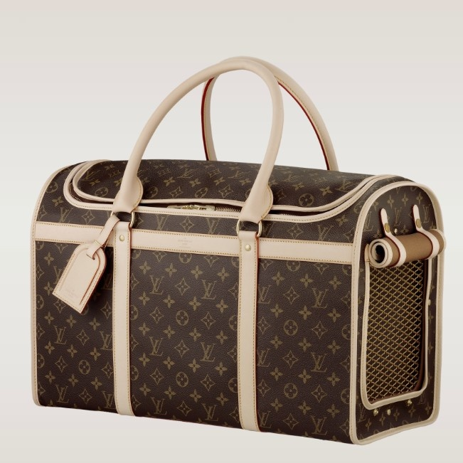 (Width*Height*Depth) 9.06 X 13.39 X 19.69 inches  - Monogram canvas, cross grain rounded leather handles, washable lining  - Golden brass pieces  - Double zip-around closure  - Breathable side mesh with roll-up flap  - Cabin size