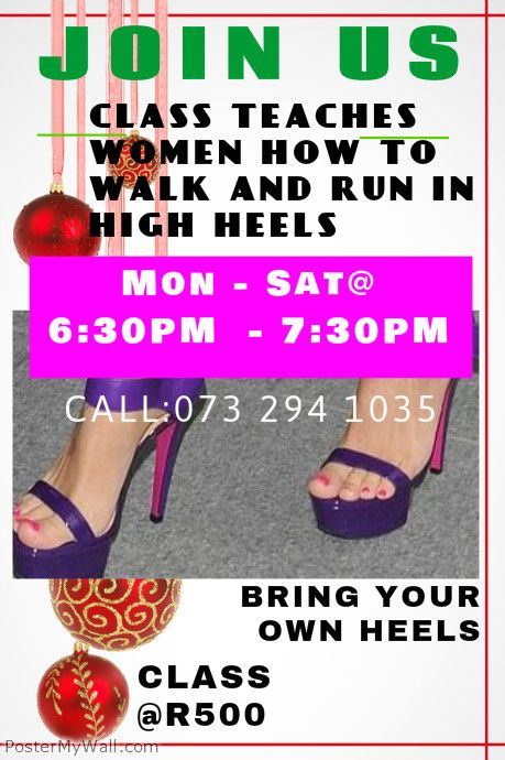 CLASS OF HIGH HEELS COMING TO SOUTH AFRICA