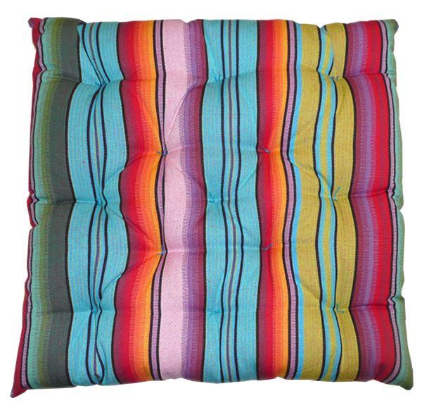 striped seat pads - multi stripe
