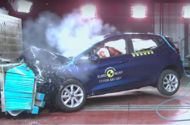 Latest Euro NCAP ratings revealed: Fiesta Grandland X Koleos achieve five stars Ford Fiesta Vauxhall Grandland X Renault Koleos and Mazda CX-5 all get five stars but NCAP has issued a warning to the industry  Euro NCAP has published its latest batch of crash test results with six of the nine cars tested achieving five-star ratings with the standard level of safety equipment.  The Ford Fiesta Vauxhall Grandland X Mazda CX-5 Renault Koleos Jeep Compass and Mercedes-Benz C-Class Cabriolet all…