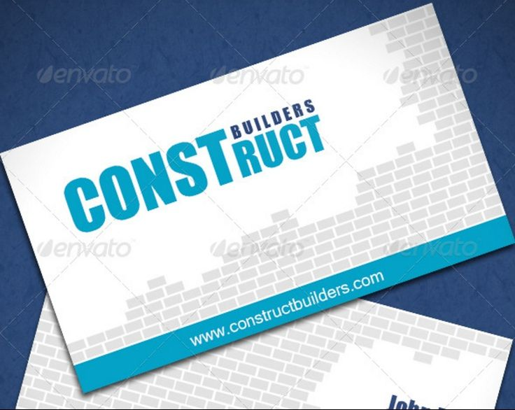 9 best card designs images on pinterest card designs card 25 construction business card template psd and indesign format reheart Image collections