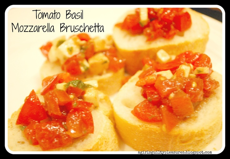 bruschetta on everything italian loaf would be really yummy for a party app.