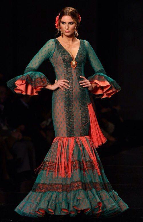117 best images about trajes de flamenca on pinterest for Flamenco style wedding dress
