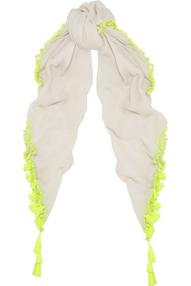 This neon scarf tasseled cover-up is perfect for summer and on my wishlist.