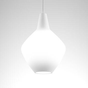 Sipuli (onion) pendant lamp, mouth blown glass, Lisa Johansson-Pape, Finland.