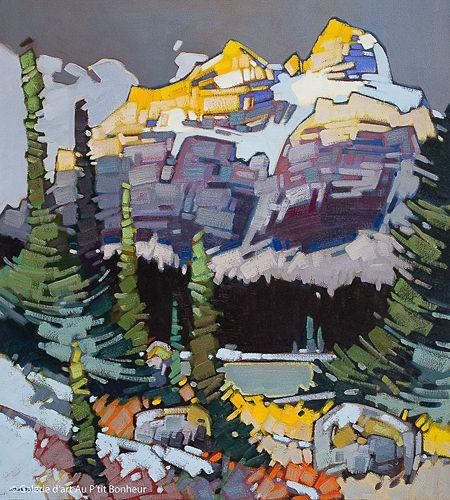 Cameron Bird, 'Passing Storm Over Temple', 36'' x 40''   Galerie d'art - Au P'tit Bonheur - Art Gallery