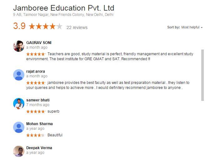 Jamboree Delhi Reviews