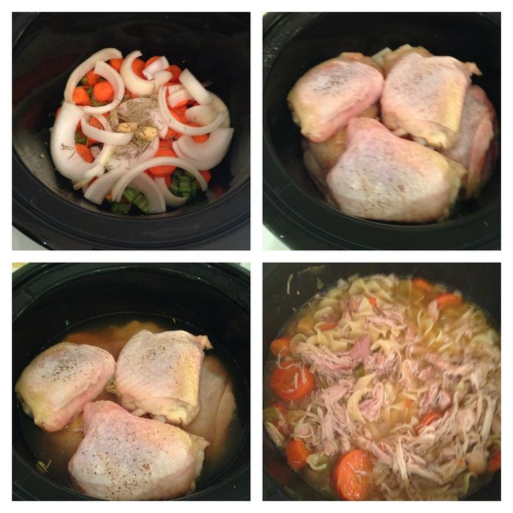 Crock-pot Chicken Noodle Soup Recipe #shayjdesign #slowcooker #recipe