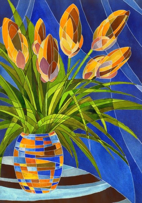 Beautiful Flower Vase  from $41.99   www.wallartprints.com.au #CubismArt