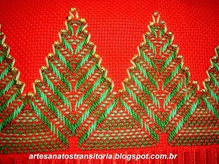 ARTESANATOS TRANSITÓRIA: pinheiros de natal no vagonite