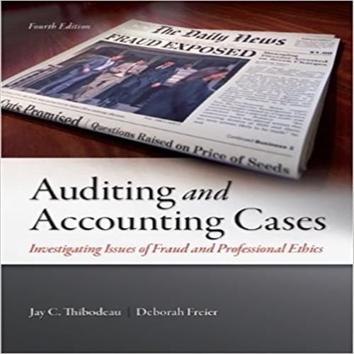 40 best textbook solution manual for download images on pinterest solution manual for auditing and accounting cases investigating issues of fraud and professional ethics 4th edition fandeluxe