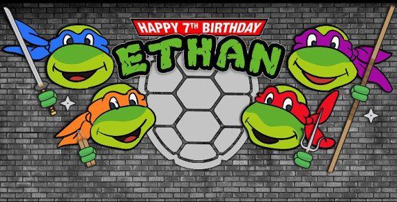 Teenage Mutant Ninja Turtles Themed Backdrop Jpeg File Via Etsy Ninja Turtle Party Teenage Mutant Ninja Turtles Ninja Turtles