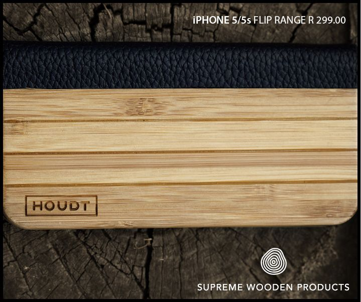 Stylish #Bamboo and #wood cover for your iPhone 5  Get yours here: http://www.houdt.co.za/collections/iphone-5/leather-wood-flip-case-grooved
