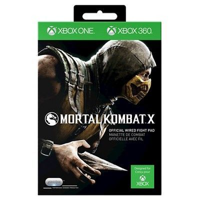 Mortal Kombat X: Fight Pad for Xbox One and Xbox 360, Black