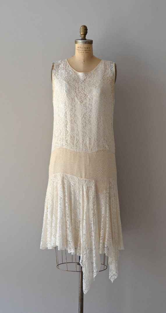 Glissando lace wedding dress / silk lace and beaded by DearGolden