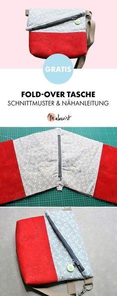 Gratis Anleitung: Fold-Over Schultertasche nähen - Schnittmuster und Nähanleitung via Makerist.de