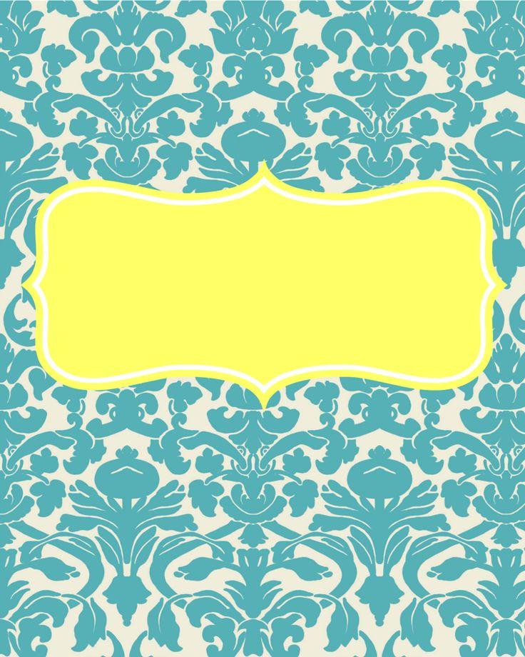 Maybe I Should Try....: Freebie! Cute Binder Covers