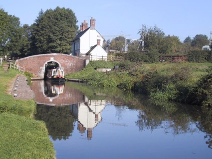 Tamworth, England - our friends took us to some interesting canals, must find out what they were called.