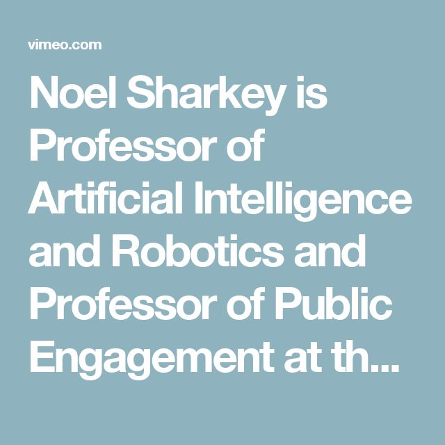 Noel Sharkey is Professor of Artificial Intelligence and Robotics and Professor of Public Engagement at the University of Sheffield. An authority on robotics and on the ethics of military robotics, here he discusses with Dr Birgit Schippers the human rights issues raised by the proliferation of unmanned aerial vehicles, or drones, in conditions of war and conflict and in surveillance in democratic societies.