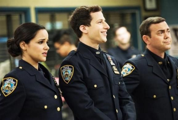 Melissa fumero, Andy Samberg and Joe lo Truglio of Brooklyn Nine Nine