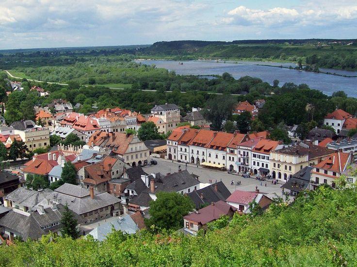 Widok z Góry Trzech Krzyży na Kazimierz Dolny