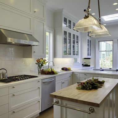 white Kitchen Cabinets With White Corian Countertop