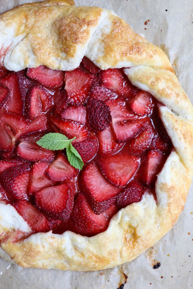 Strawberry Galette! Celebrate summer strawberries with this delicious strawberry galette! This is a must bake for summer!