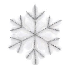 HANGING SNOWFLAKE ORNAMENT IN WHITE COLOR W/STRASS D-30(3)