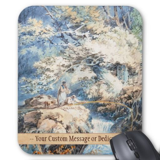 The Angler Joseph Mallord William Turner ART Mousepad