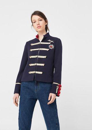 Veste style militaire -  Femme | MANGO France