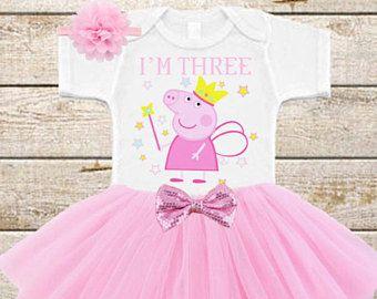 Princess Peppa Pig Birthday Tutu Outfit, Peppa Pig Tutu, Peppa Big Girl Birthday Outfit, Peppa Pig Party Outfit, Peppa Tutu Outfit, Peppa