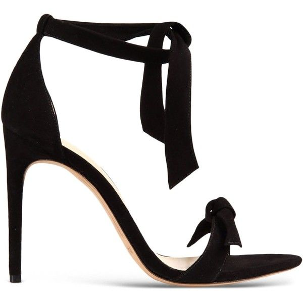 Alexandre Birman Sandals ($590) ❤ liked on Polyvore featuring shoes, sandals, heels, high heels, saltos, black, leather sole shoes, heeled sandals, ankle strap heel sandals and high heel shoes