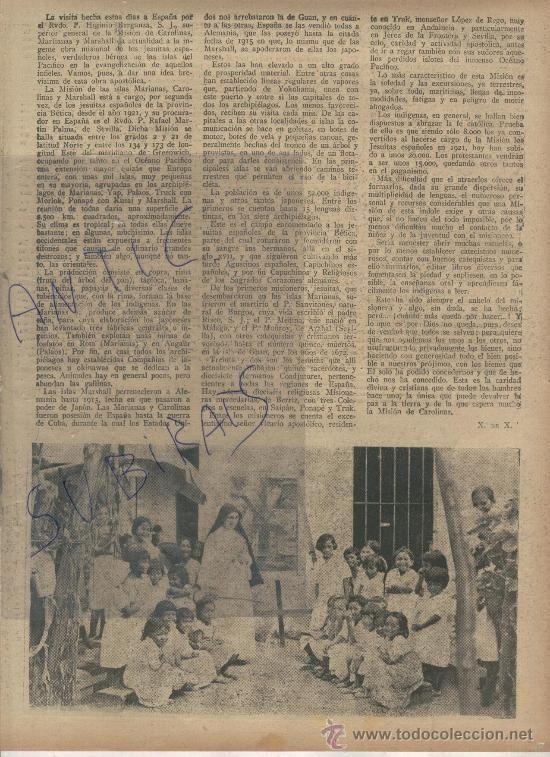 Coleccionismo de Revistas y Periódicos: ABC.AÑO 1938.GUERRA CIVIL.LAS MISIONES ESPAÑOLAS EN LAS ISLAS CAROLINAS.MARIANAS.MARSHALL.R.MARTIN - Foto 2 - 28406616