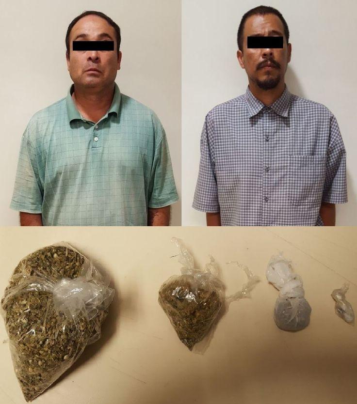 <p>Chihuahua, Chih.- Policías Antinarcóticos de la Agencia Estatal de Investigación capturaron a dos sujetos en la colonia Dos de Octubre,