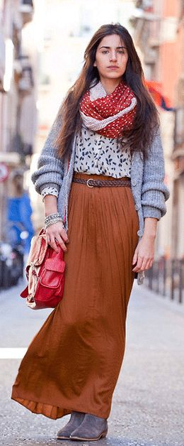 Maxi skirts in Winter!