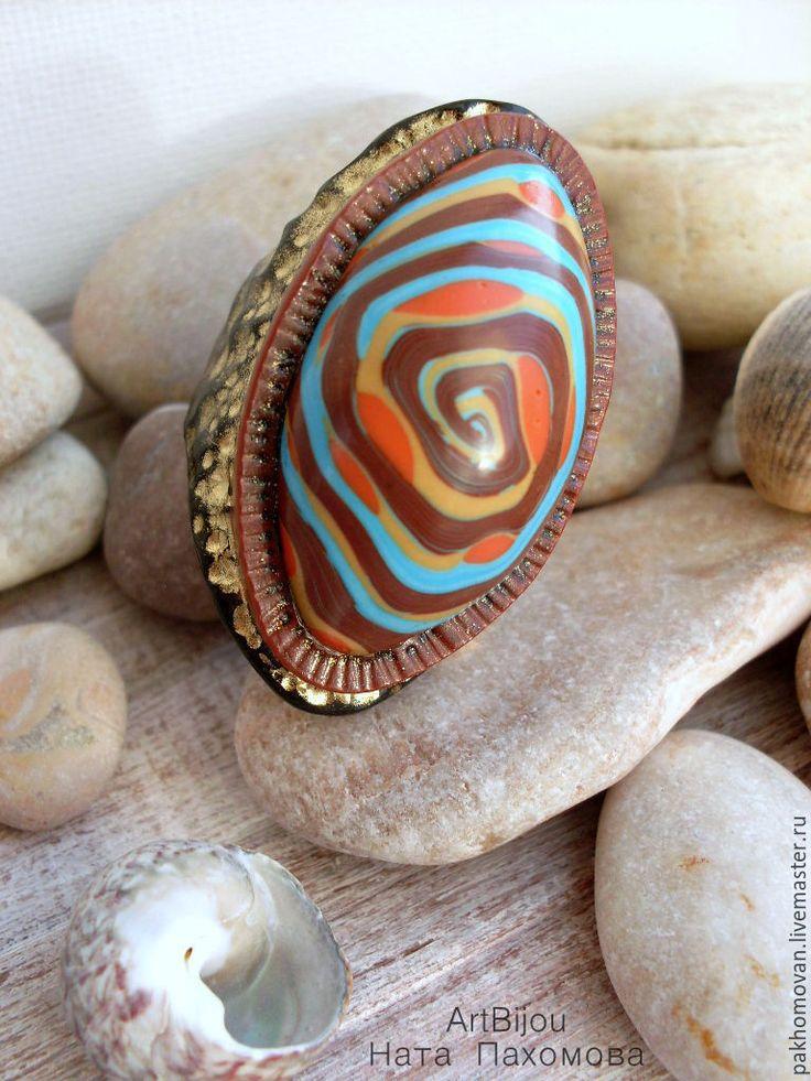 Купить Кольцо из полимерной глины ШАМАНКА - кольцо, из полимерной глины, необычное кольцо, красивый подарок