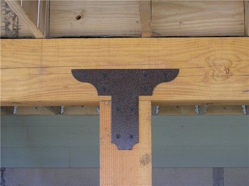 Custom Beam Brackets Buscar Con Google Roof Trusses
