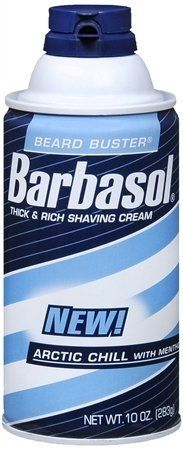 Barbasol Thick and Rich Shave Cream Arctic Chill with Menthol- 10 Oz (Pack of 3) by Barbasol. $8.00. Barbasol shave cream. Arctic Chill Thick & Rich Shaving Cream. Arctic Chill. Start your day feeling cool and refreshed with Barbasol Arctic Chill Shave Cream with Menthol. The thick, rich lather has a smooth scent and provides a cooling finish to your shave.