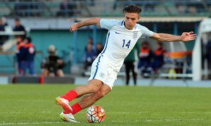 Jack Grealish and Cauley Woodrow lead England Under-21s rout of Guinea